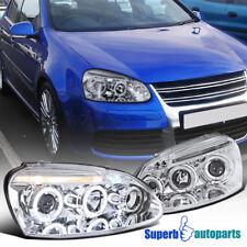 For 2006-2008 VW Golf Rabbit Jetta LED Halo Projector Headlights Head Lamps