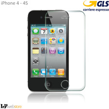 Pellicola Vetro Temperato per Apple iPhone 4s 4 Antigrafio 9h
