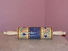 Polish Pottery Rolling Pin! UNIKAT Signature Butterfly Summer Pattern!