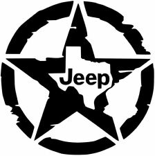 Jeep Star Texas Lone Star Decal Vinyl Sticker Wrangler Rubicon Willy's 10 COLORS