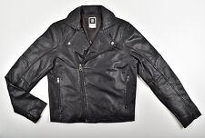 G-Star Raw chaqueta de cuero, Biker JKT-cammcord perfecto Leather JKT-Talla M nuevo!!!