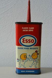 ancien petit bidon d'huile ESSO ,burette, garage, plaque émaillée, can oil