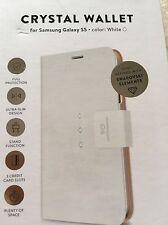 A WHITE ULTRA SLIM PHONE CASE FOR A SAMSUNG GALAXY S5 WITH 3 SWAROVSKI  DIAMONDS
