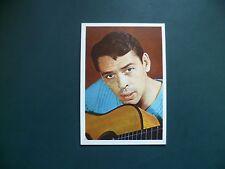 chromos plaatjes images chanteurs : Monty Gum Jacques Brel trading cards cartes