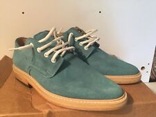 OLIVER CLARK BLUE SUEDE LEATHER POINTED TOE HANDMADE OXFORD SHOES 8 NEW