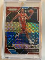 2016-17 PRIZM MOSAIC BEN SIMMONS ROOKIE RC CARD RED PARALLEL PHILADELPHIA 76ERS