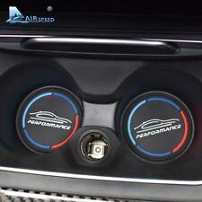 2PCS 79MM PERFORMANCE Car Coaster Cup Mat for BMW X5 F15 E70 X6 F16 E71 E72