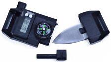 6in1 Paracord Buckle - Compass Watch Flint Whistle Knife Blade Window Break Tool