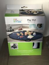 Mainstays Kids Portable Play Mat and Toy Carrier Navy Blue