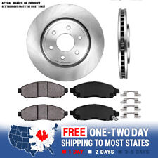Front Brake Disc Rotors and Ceramic Pads For FRONTIER PATHFINDER XTERRA EQUATOR