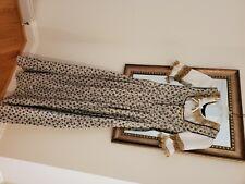 Original Vintage New Drindl Bavarian Dress Gold with Blue Floral size 36. 40yo