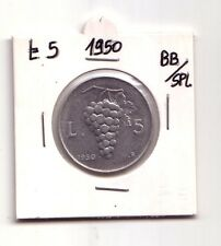 Repubblica Italiana 5 lire 1950  Uva  Italma   BB/SPL   (m849)