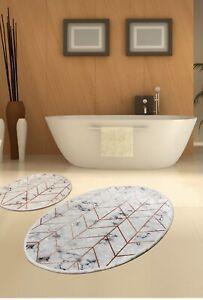 Morea Digital Decorative 2 Pieces Bathroom Mats
