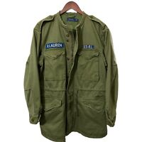 Polo Ralph Lauren M-65 Collarless Combat Military Army Field Mens Jacket S 38 40
