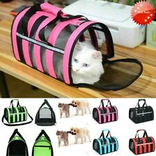 New Cat Puppy Pet Folding Portable Breathable Stripe Carrier HouseTravelling Bag