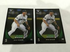 2 KYLE SEAGER ROOKIES 2011 BOWMAN CHROME SEATTLE MARINERS BASEBALL CARDS