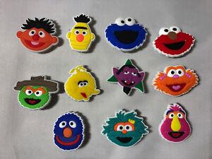 11 x Schuhstecker/Shoe Charms für Clogs/Crocs* SESAMSTRASSE Bert & Ernie