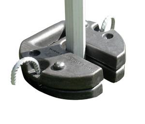 Set of 2 - 13kg Cast Iron Leg Weight Feet