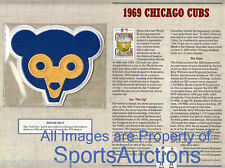 1969 CHICAGO CUBS Willabee & Ward COOPERSTOWN COLLECTION MLB BASEBALL TEAM PATCH