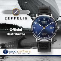 Zeppelin LZ129 Hindenburg Swiss quartz watch 40mm Hesalite Blue dial 7046-3
