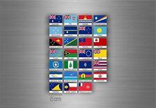 Planche autocollant sticker drapeau pays rangement classement timbre oceanie txt