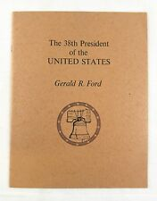 Vintage 1975 The 38th President of the United States Gerald R. Ford Biography