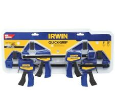IRWIN QUICK-GRIP 4-Pack One Handed Bar Clamps (2) 6-in & (2) 12-in - NEW!