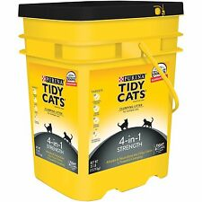 Purina Tidy Cats 35 lb. Pail Clumping Litter 4-in-1 Strength  for Multiple Cats