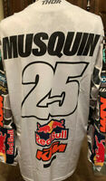 Authentic Brand New Marvin Musquin #25 Factory Red Bull KTM Issued THOR Jersey
