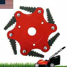 Weed Brush Cleaner Trimmer Head Cutter Universal 6Steel Blades Razors 65Mn Us