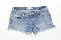 Womens Abercrombie Blue Denim Shorts Size 6/
