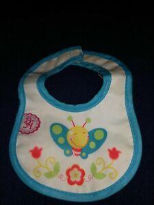 Hasbro Baby Alive Bib Blue Trim With Bug Design
