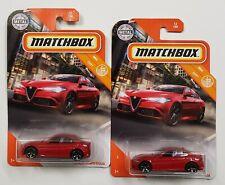 2x Matchbox Lot   • '16 Alfa Romeo Giulia - Red •   MBX City   12/100
