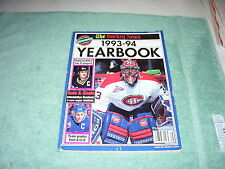 THE HOCKEY NEWS 1993-1994 YEARBOOK, PATRICK ROY, MARIO LEMIEUX ON COVER