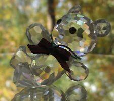 Swarovski Crystal Kris Bear Reclining With Bow Tie Mint in Box