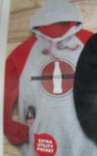 Coca-Cola  Colorblock Sweatshirt w/hood - Large   NEW