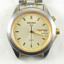 Vintage Mens Seiko AGS Spirit Day Date Kanji Dress Watch JDM 5M23-7A60 Antique