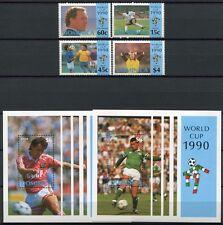 DOMINICA 1990 Fußball WM Soccer FIFA World Cup Italien 1338-41 + Bl.170-171 **