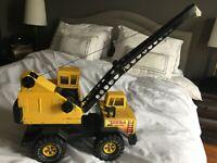 Vintage Tonka Bucket Crane Mighty Turbo Diesel XMB-975 1980s Yellow Restore 3925