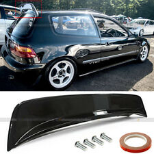 For 92-95 Honda Civic Hatchback BYS Style Glossy Black Rear Roof Spoiler Wing