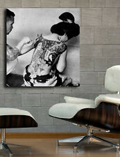 Poster Mural Geisha Girl Tattoo Erotic Art 40x42 in (100x105 cm) Adhesive Vinyl