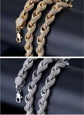 18K Gold Plating Hip Hop B.I.G.JAY-Z Rapper Zircon Miami Cuba Chain Necklace