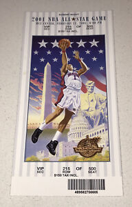 Authentic 2001 NBA All-Star Game VIP FULL Ticket Stub @ MCI Center Iverson MVP