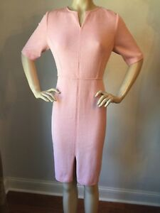 NWT St John Knit dress Size 6 Caribbean Rose santana knit wool rayon