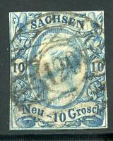 GERMANY STATES SAXONY SCOTT# 14 MICHEL# 13 USED CUT CLOSE AS SHOWN