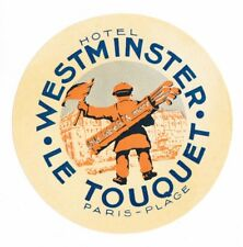Hotel Westminster LE TOUQUET luggage label Kofferaufkleber – GOLF - x2526