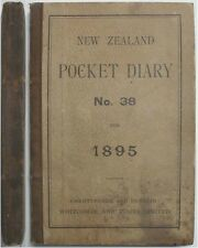 1895 NORTH ISLAND NEW ZEALAND SHEEP CATTLE STATION STOCKMAN'S HANDWRITTEN DIARY