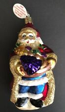 1998 Old World Christmas Santa Claus 5.25 inch Glass Ornament