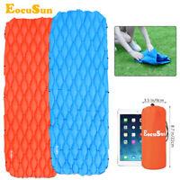 EocuSun Inflatable Sleeping Mat Outdoor Tent Pad Hiking Camping Air Mattress Bed