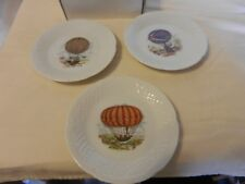 Set of 3 Porcelain Victorian Era Balloon Plates Limoges Phillippe Deshhoulieres